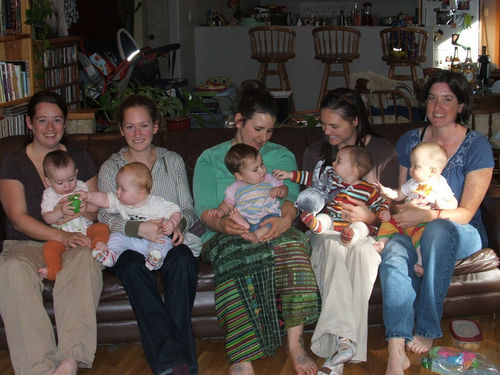 The mamas and babies