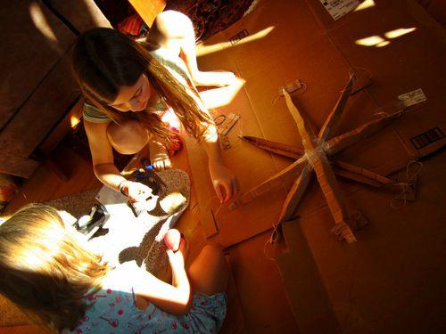 Cardboard farris wheel