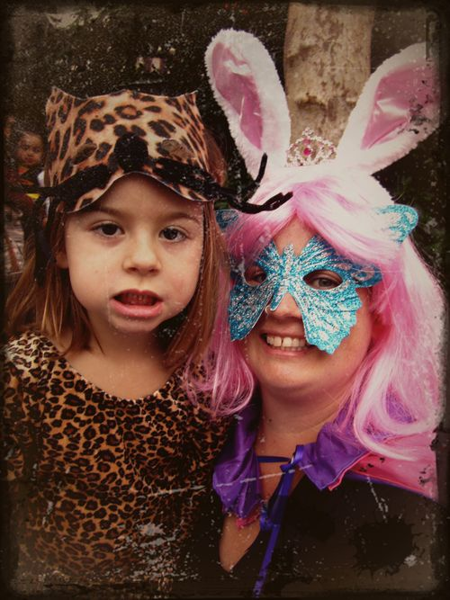 Leopard girl and super bunny princess